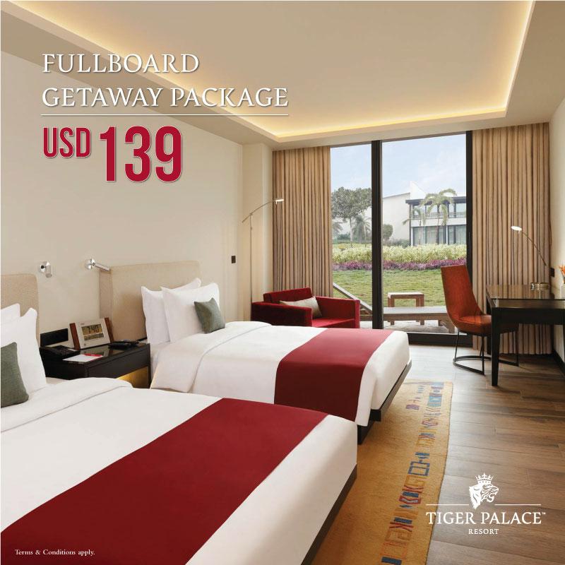 Tiger Palace resort FULLBOARD GETAWAY PACKAGE