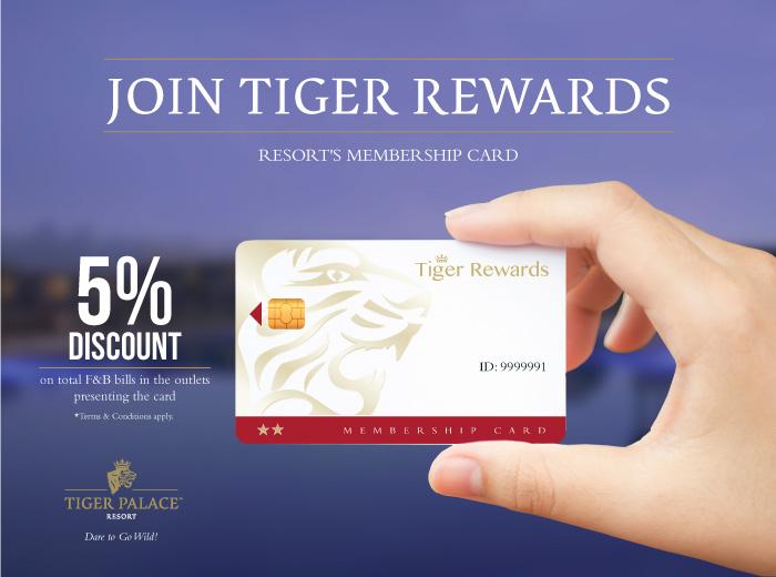 Tiger Palace resort's membership card